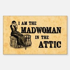 Madwoman In The Attic Sticker (Rectangle)