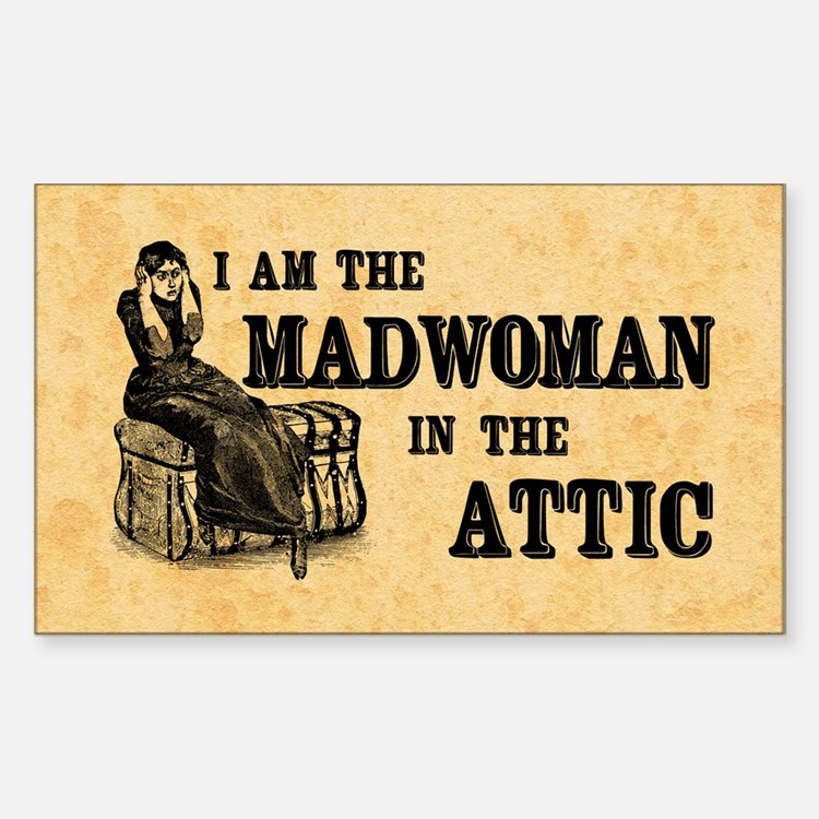 Madwoman In The Attic Sticker (Rectangle)