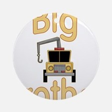 Big Brother Cute Tow Truck Ornament (Round)