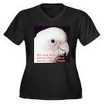 Bare-eyed Cockatoo - Lauren Women's Plus Size V-Ne