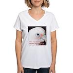 Bare-eyed Cockatoo - Lauren Women's V-Neck T-Shirt