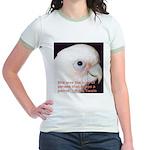 Bare-eyed Cockatoo - Lauren Jr. Ringer T-Shirt