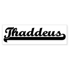Black jersey: Thaddeus Bumper Bumper Sticker