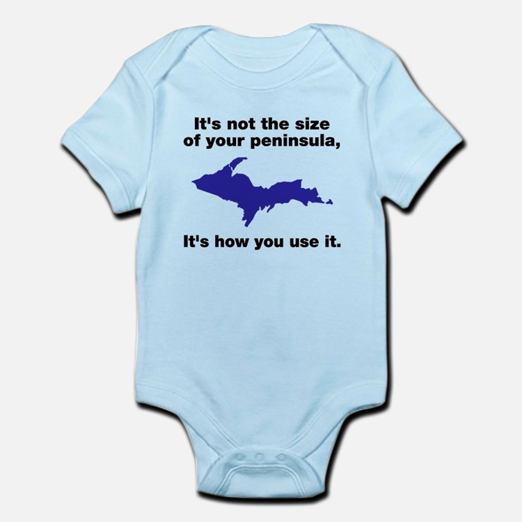 It's not the size of your peninsula Infant Bodysui
