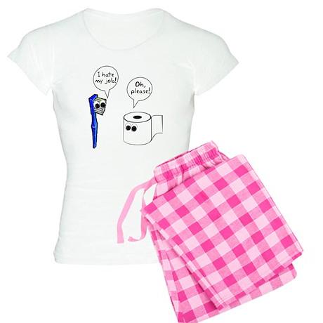 Tooth Toilet Paper Worse Job Women's Light Pajamas