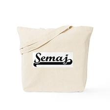 Black jersey: Semaj Tote Bag
