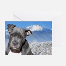 Blue American Pit Bull Terrier Puppy Dog Greeting