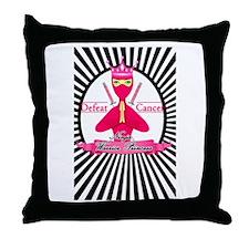 Defeat Cancer Throw Pillow
