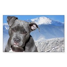 Blue American Pit Bull Terrier Puppy Dog Decal