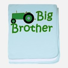 Big Brother Green Tractor baby blanket