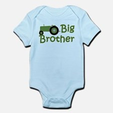 Big Brother Green Tractor Infant Bodysuit
