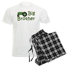 Big Brother Green Tractor Pajamas