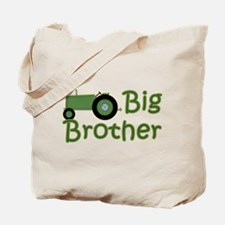 Big Brother Green Tractor Tote Bag