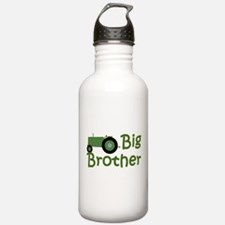 Big Brother Green Tractor Sports Water Bottle