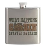 Happens At The Cabin Flask
