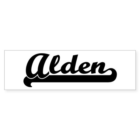 Black jersey: Alden Bumper Sticker