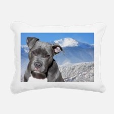 Blue American Pit Bull Terrier Puppy Dog Rectangul