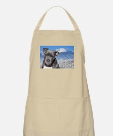 Blue American Pit Bull Terrier Puppy Dog Apron