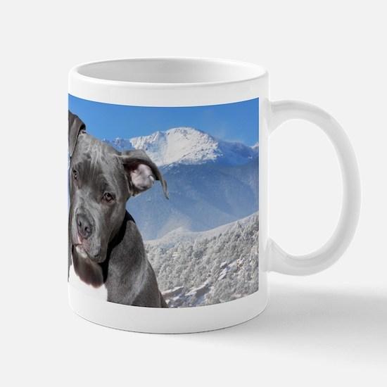Blue American Pit Bull Terrier Puppy Dog Mug