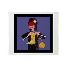 french knitter Throw Blanket