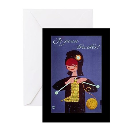 french knitter Greeting Cards (Pk of 20)