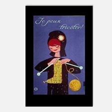 french knitter Postcards (Package of 8)
