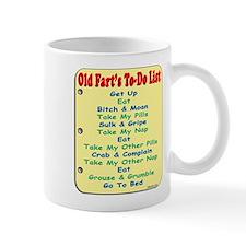 OldFartShort12x14YellowTRANS-a Mugs