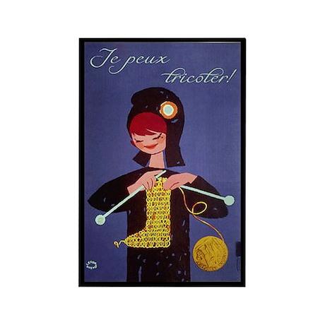 french knitter Rectangle Magnet