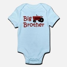 Big Brother Red Tractor Infant Bodysuit