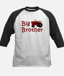 Big Brother Red Tractor Kids Baseball Jersey
