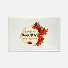 Turkmen Boyfriend designs Rectangle Magnet