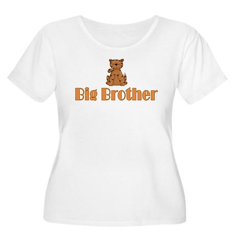 Big Brother Tiger Women's Plus Size Scoop Neck T-S