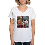 Palm Cockatoo - Pam Women's V-Neck T-Shirt