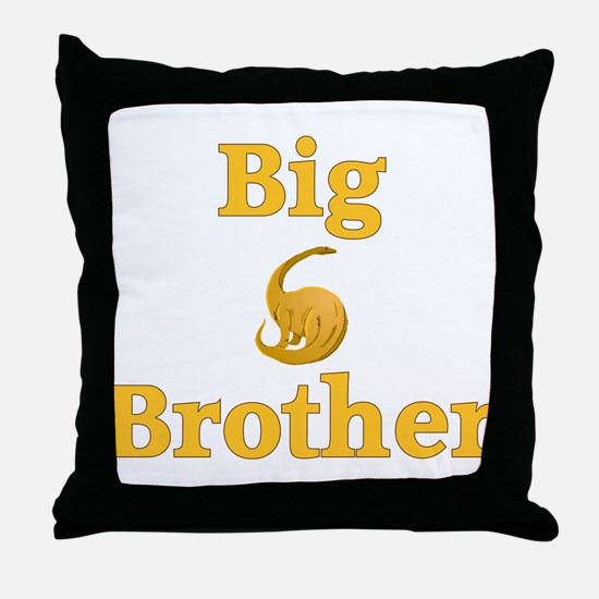 Big Brother Yellow Dinosaur Throw Pillow