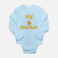 Big Brother Yellow Dinosaur Long Sleeve Infant Bod