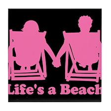 Life's a Beach Tile Coaster
