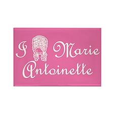 I Love (Wig) Marie Antoinette Pink Rectangle Magne