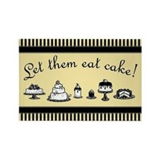 Sweet Let Them Eat Cake Rectangle Magnet