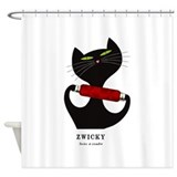 Retro red Shower Curtains
