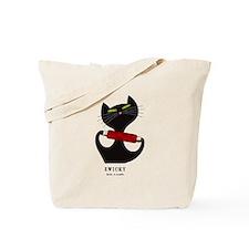 black cat thread Tote Bag