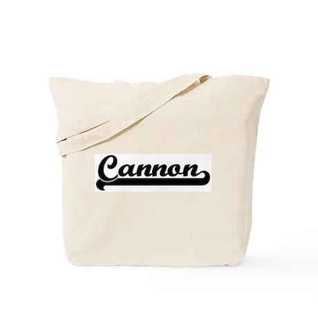 Black jersey: Cannon Tote Bag