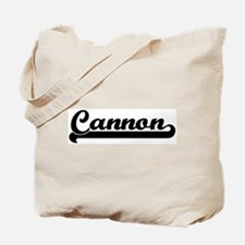Black jersey: Cannon Tote Bag