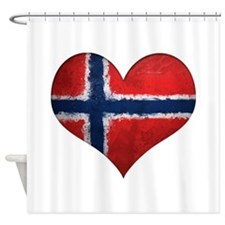 Norway Heart Shower Curtain