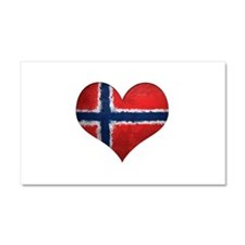 Norway Heart Car Magnet 20 x 12