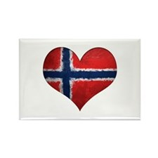 Norway Heart Rectangle Magnet
