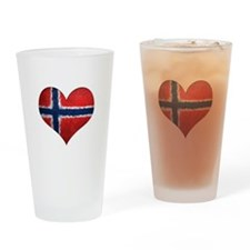 Norway Heart Drinking Glass