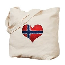 Norway Heart Tote Bag
