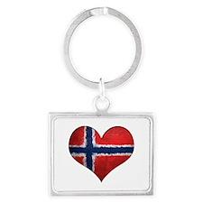 Norway Heart Landscape Keychain