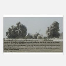 Clarence Pickett on bombing Postcards (Package of