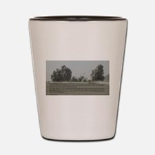 Clarence Pickett on bombing Shot Glass